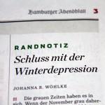 Schluss mit der Winterdepression!