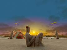 Statue der Maya