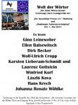 """IGS 2013 in Hamburg: Eröffnung der """"Welt der Wörter"""""""