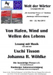 """4. Lesung """"Welt der Wörter"""": 22. Mai 2013 IGS Hamburg – Fotos jetzt hier"""