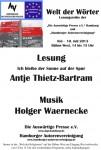 """11. Lesung """"Welt der Wörter"""": 10. Juli 2013 IGS-Hamburg  –  Fotos jetzt hier"""