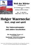 """12. Lesung """"Welt der Wörter"""": 17. Juli 2013 IGS Hamburg- Fotos jetzt hier"""