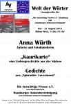 """17. Lesung """"Welt der Wörter"""": 21. August 2013 IGS Hamburg, Fotos jetzt hier"""
