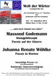 "21. Lesung ""Welt der Wörter"": 18. September 2013 IGS Hamburg Fotos hier"