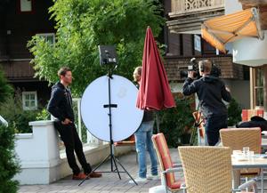Interview im Garten