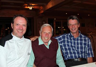 Norbert, Alois und Helmut Kreidl ( von links)