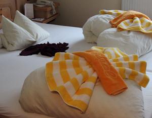 Die Handtücher liegen bereit