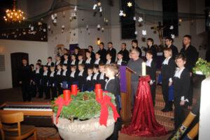 Der Chor beim Konzert in Wanna