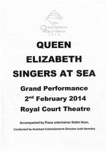 Singers At Sea