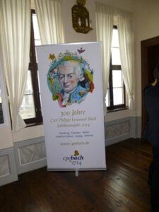 Das Jubiläumsplakat im Bachmuseum zu Leipzig