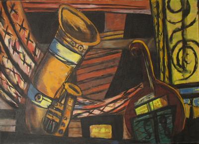 Orchester, 1932 Öl auf Leinwand, 88,9x138,4 cm Privatsammlung