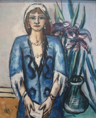 Quappi in Blau und Grau, 1944 Öl auf Leinwand, 98,5x76,5 cm Stiftung Museum Kunstpalast, Düsseldorf