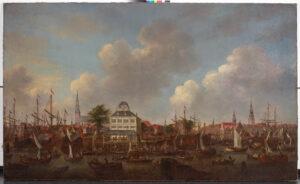 Baumhaus mit Nieder-und Binnenhafen