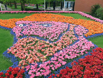 Blumenmosaik van Gogh