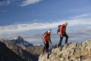 Bergsteiger im Kleinwalsertal