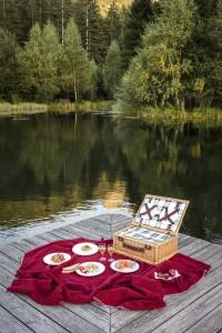Picknick am Teich