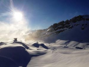 Schneesicherheit grantiert die Nordwest-Staulage – hier auf dem Ifen