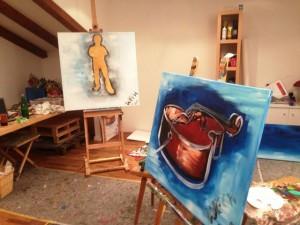 Das Künstleratelier wird vom Hausherrn persönlich geleitet
