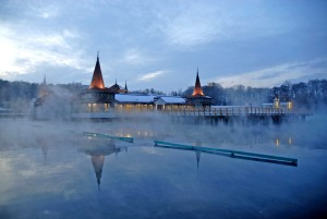 Thermalbadsee im Winter