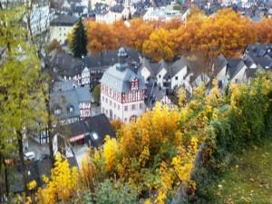 Blick von der Burg auf Dillenburg